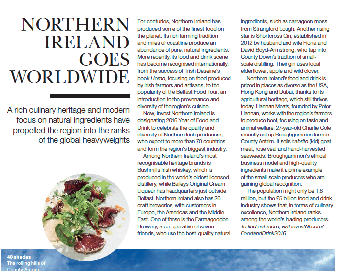 year of food northern ireland BA high life magazine broughgammon farm