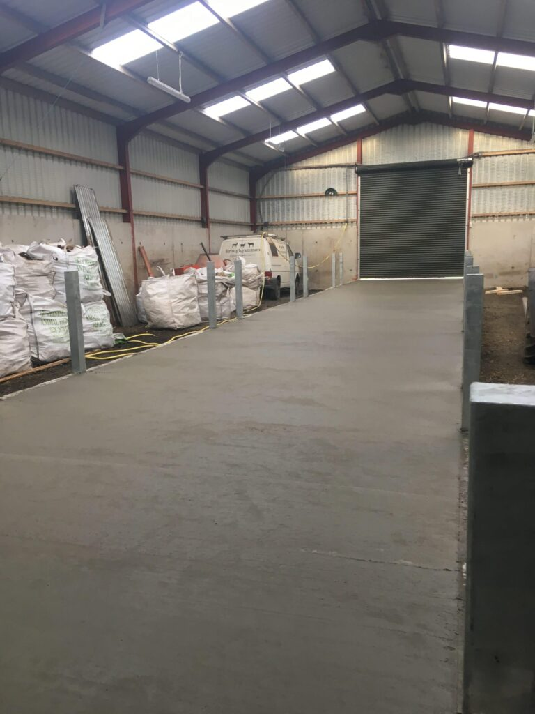 The Feed passage with the concrete poured