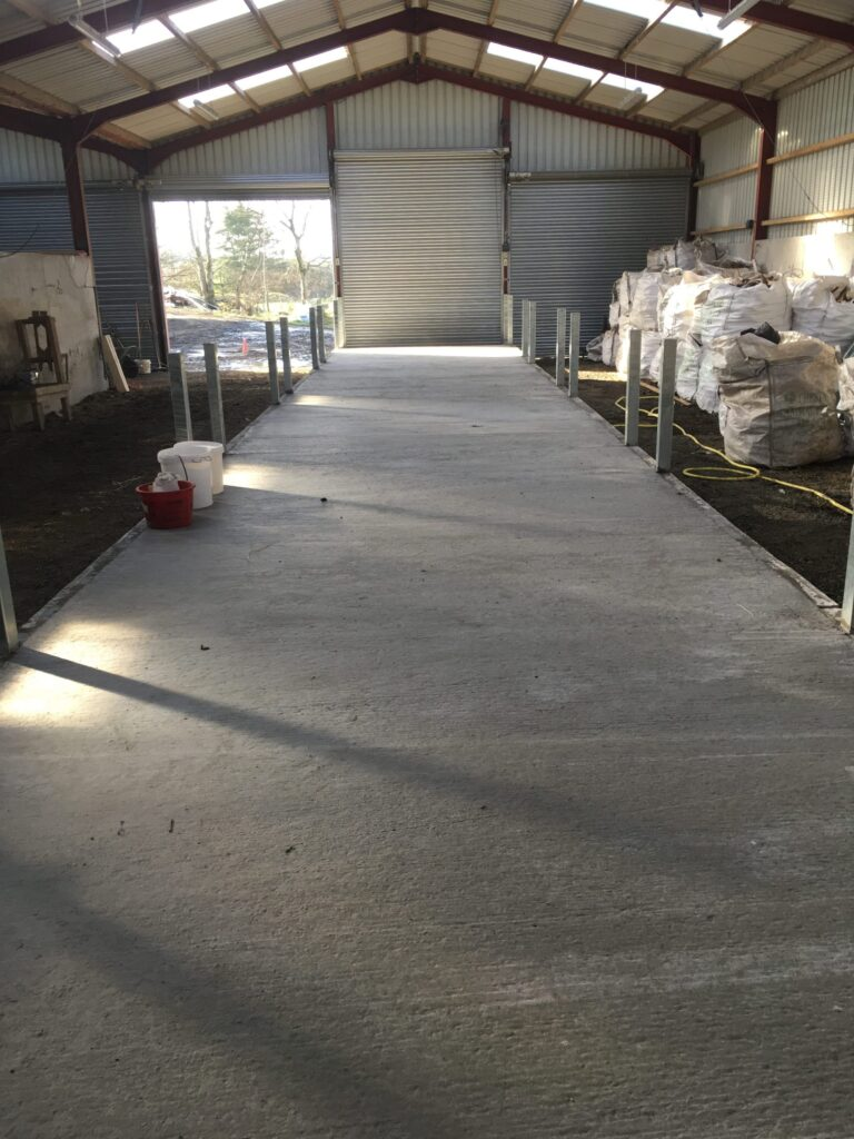 Our finished feed passage, now just to get the feeder fronts hung!