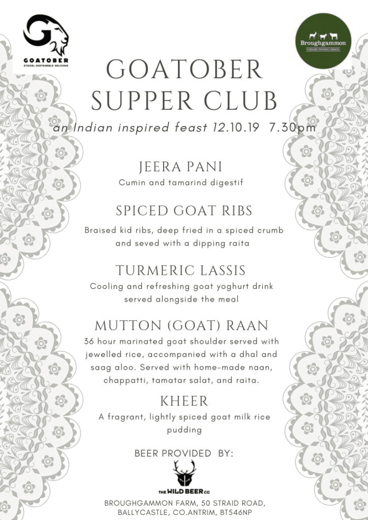 goatober menu ireland indian goat meat